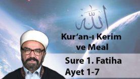 Sure 1. Fatiha 1-7-01