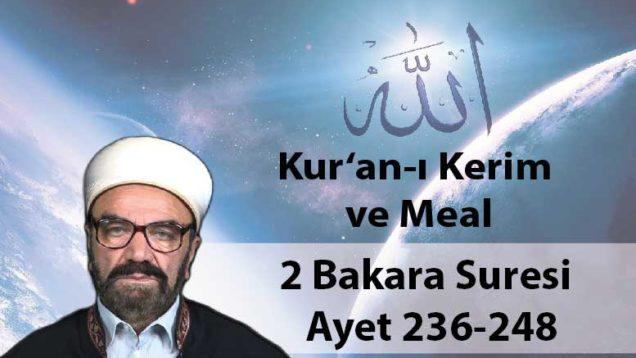 2 Bakara Suresi – Ayet 236-248-01
