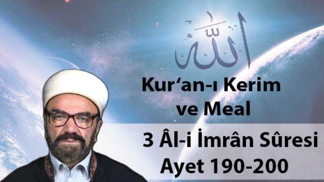 3 Âl-i İmrân Sûresi Ayet 190-200-01