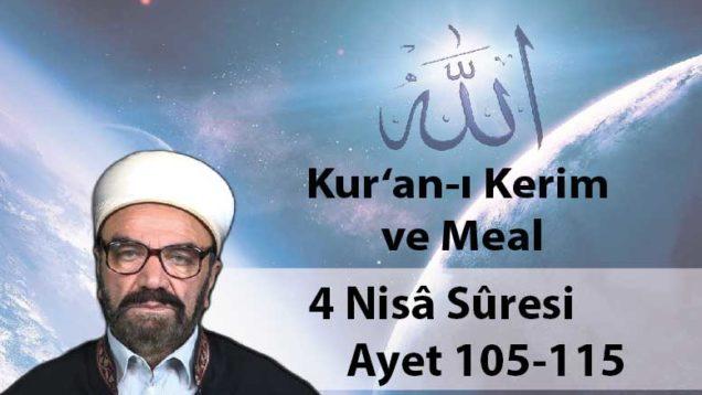 4 Nisâ Sûresi Ayet 105-115-01