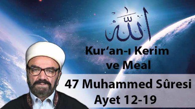 47 Muhammed Sûresi Ayet 12-19-01