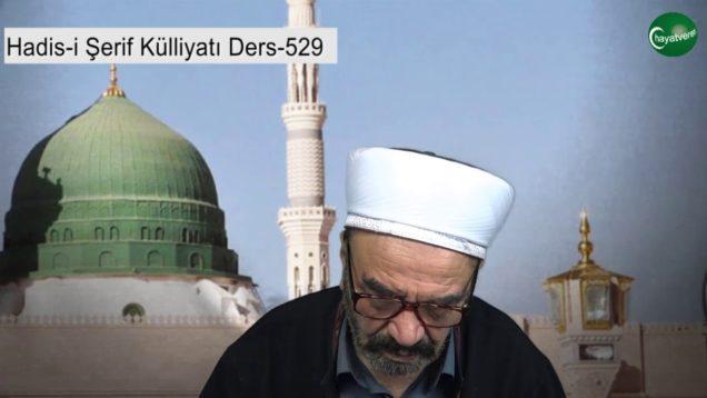 529 – Hadis-i Şerif Külliyatı Ders 529