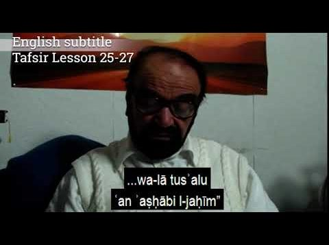 Turkish English Tafsir Lesson 25-27