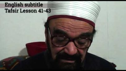 Turkish English Tafsir Lesson 41-43