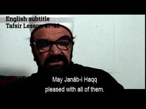 Turkish English Tafsir Lesson 47-48