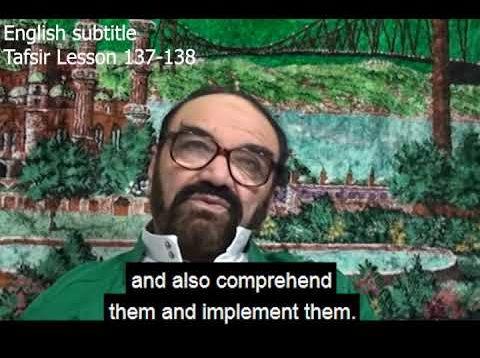 Turkish English Tafsir Lesson 137-138