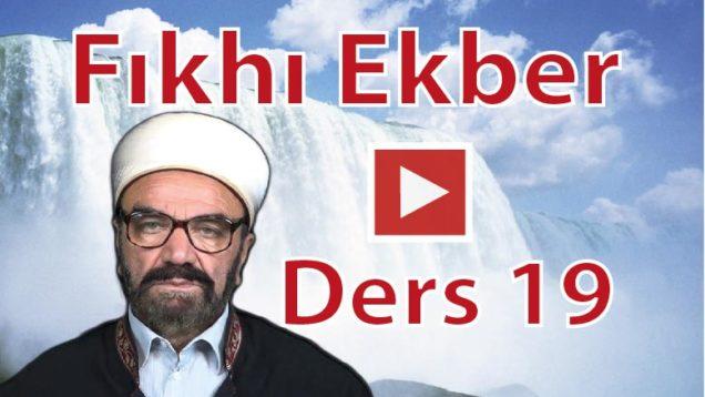 fıkhı-ekber-ders-19-01